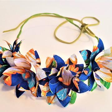 Headband tiara coroa chita festa junina acessorios cabelo