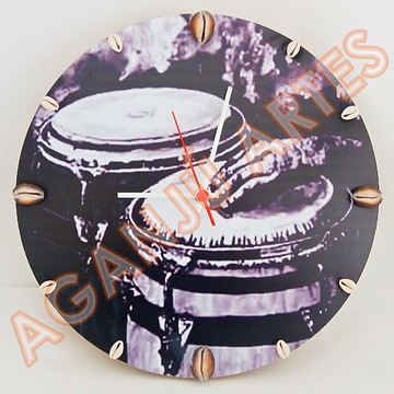 Relógio De Parede Personalizado - Atabaques - Mdf 33c
