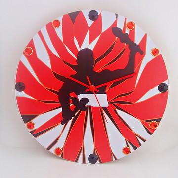 Relógio De Parede Personalizado - Orixá Exu - Mdf 33cm