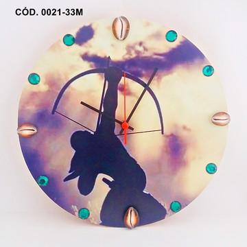 Relógio De Parede Personalizado - Orixá Oxossi - Mdf 33cm