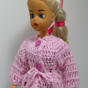 Casaco de crochê para Boneca Susi