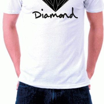 5a82aba98 Camiseta Branca Diamond Diamante