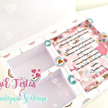 Arquivo de corte caixa multiuso para doces Dia dos Namorados