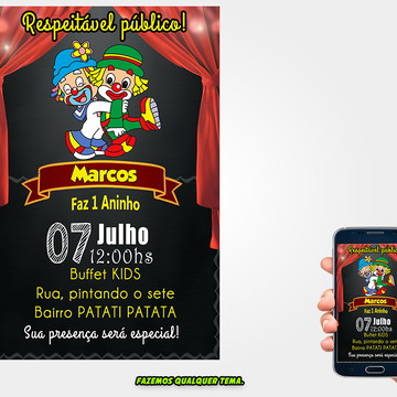 Convite Patati Patata Digital