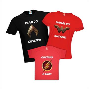 Camisetas de Aniversário Liga da Justiça