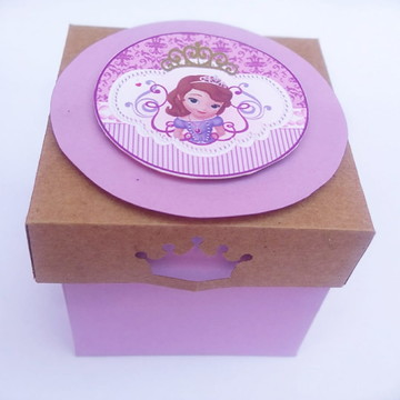 Caixa para doces lembrancinhas Princesinha Sofia
