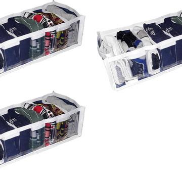 Organizador de gaveta cristal 9 nichos kit com 3