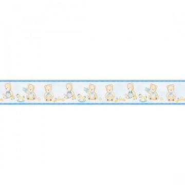 Faixa de Parede Quarto Bebê Menino Azul - Adesivo Decorativ