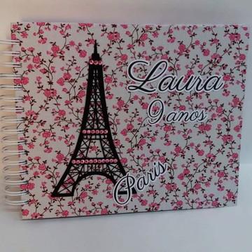 Caderno de assinatura/fotos Paris