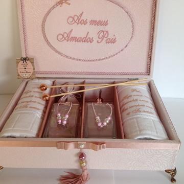 Caixa Luxo para os Pais da noiva Lembrança Mãe da Noiva