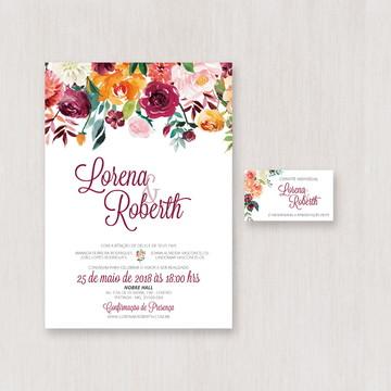 Convite de Casamento Colorido | Arte Digital