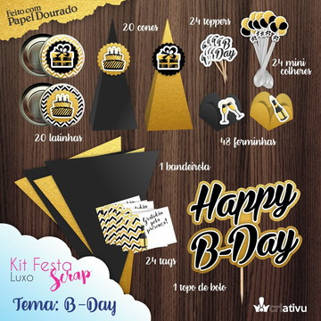 Kit Festa Scrap Luxo B-Day