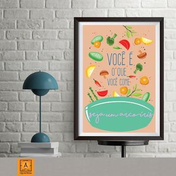 Quadro nutrição - Poster c/ Moldura 20x30cm