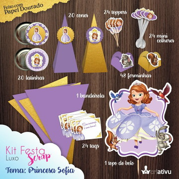 Kit Festa Scrap Princesa Sofia
