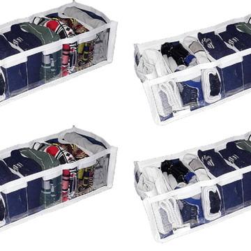 Organizador de gaveta cristal 9 nichos kit com 4