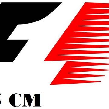 Adesivo Logo Retro Formula 1 F1 Corrida Frete Grátis