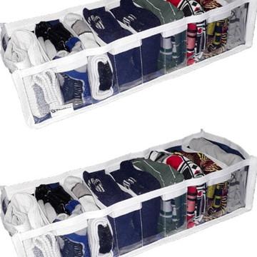 Organizador de gaveta cristal 9 nichos kit com 2