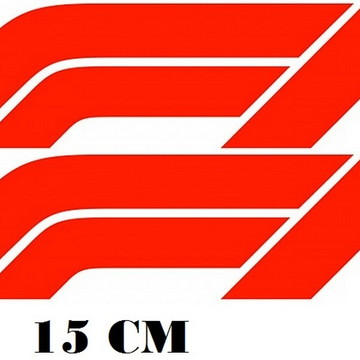 2 Adesivos Logo Formula 1 F1 Corrida Frete Grátis