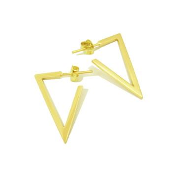 Brinco Triângulo | Ouro 18k