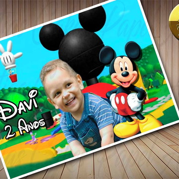 Papel de arroz Mickey com foto