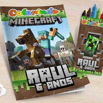 Kit colorir com giz de cera Minecraft