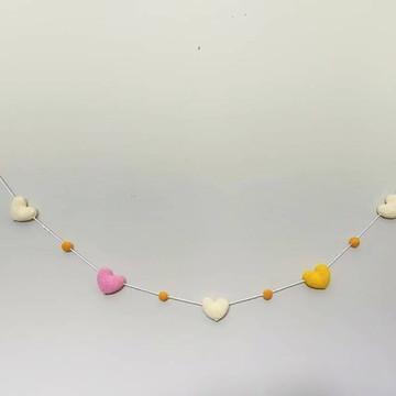 Varal de Coração Crochê Amigurumi