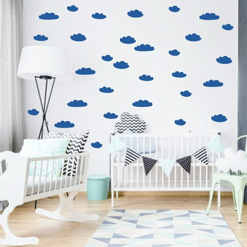 Adesivo nuvens azul marinho