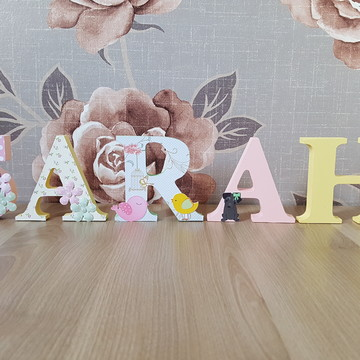 Letras de Mesa decoradas