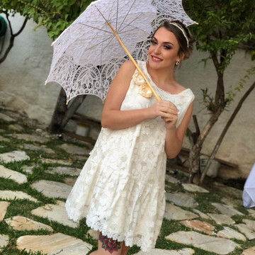 Vestido de noiva curto modelo Paris