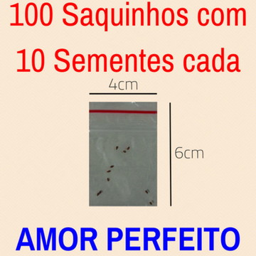 KIT de Sementes de Amor Perfeito p/ Fazer Lembrancinhas