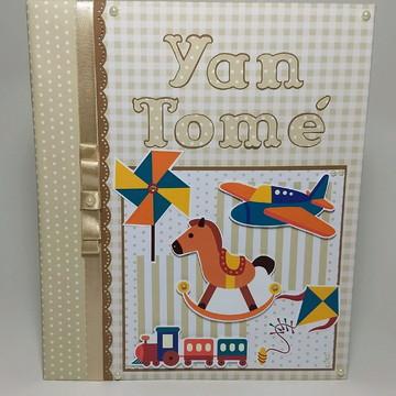 Álbum livro do Bebê personalizado brinquedos