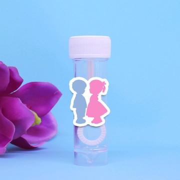 Tubo bolha de sabão - chá de revelação do sexo do bebê