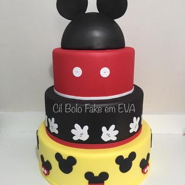Bolo fake Mickey