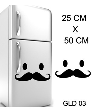 Adesivo decorativo para geadeira bigode