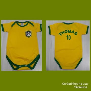 Body Copa do Mundo Brasil personalizado