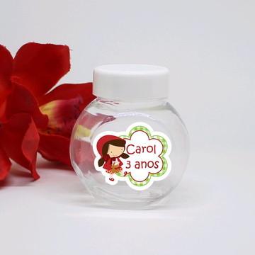 Mini-baleiro de plástico com texto - chapeuzinho vermelho
