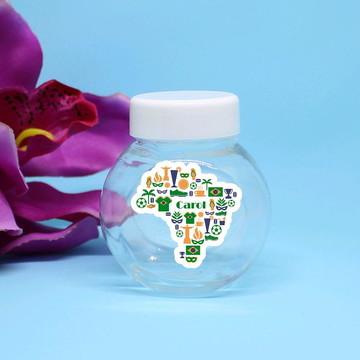 Mini-baleiro de plástico com texto - Brasil mapa