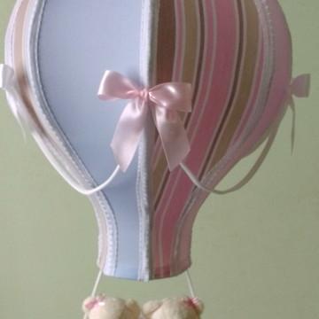 lustre balão infantil pendente gêmeos casal listrado