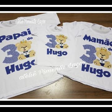 Camisetas Estampadas tema Ursinho Princípe
