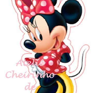 Aplique recorte scrap Minnie 8cm