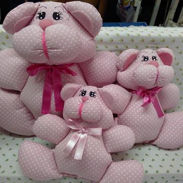 Trio de ursos para nicho rosa
