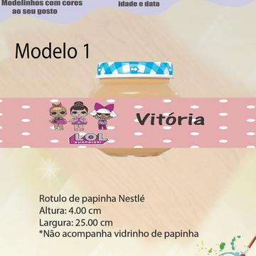 Rótulo Vidro Papinha-Lol surprise