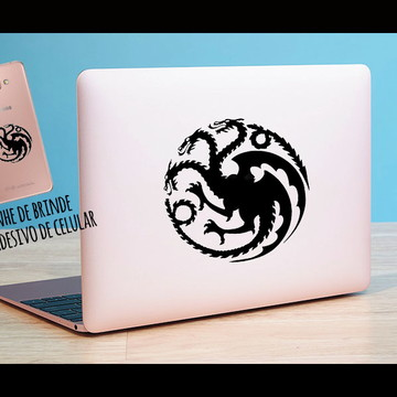 Adesivo Notebook Casa Targaryen + brinde