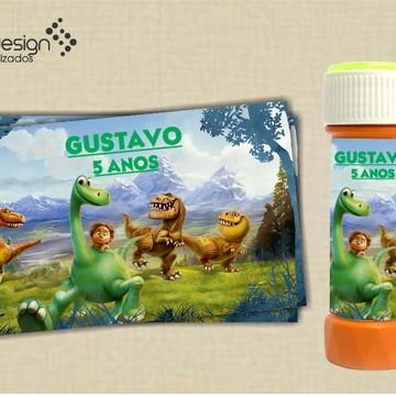 Rótulo para bolinha de sabão O Bom Dinossauro