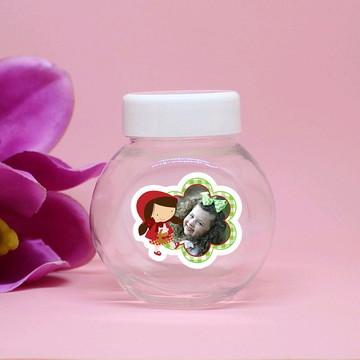 Mini-baleiro de plástico com foto - chapeuzinho vermelho