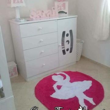 Tapete em frufru infantil bailarina quarto de menina