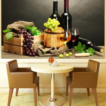 Papel de Parede Para Sala de Jantar Vinhos 0001