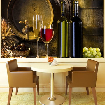 Papel de Parede Para Sala de Jantar Vinhos 0008