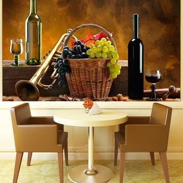 Papel de Parede Para Sala de Jantar Vinhos 0009