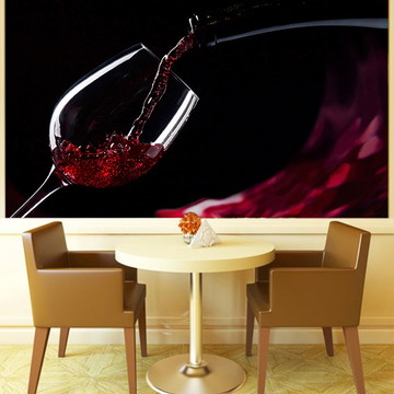 Papel de Parede Para Sala de Jantar Vinhos 0010